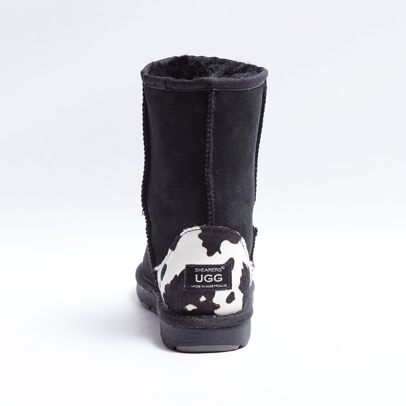 0cb5302bd30 Australian Made Shearers UGG Classic Short Boots with Animal Print Patch