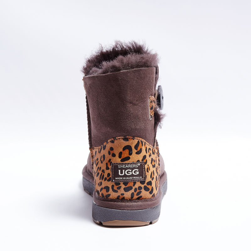 australian made shearers ugg mini button boots with animal print ...
