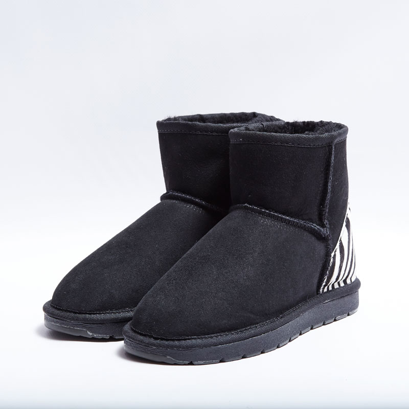68a17ba821f Australian Made Shearers UGG Mini Short Boots with Animal Print Patch